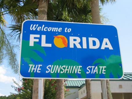 florida sign sunshine state