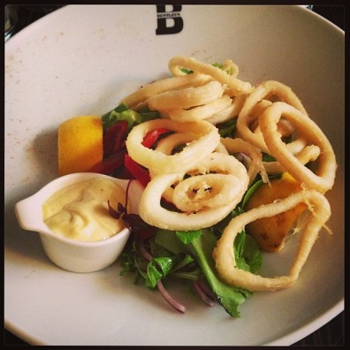 squid aioli starter bentleys ostend