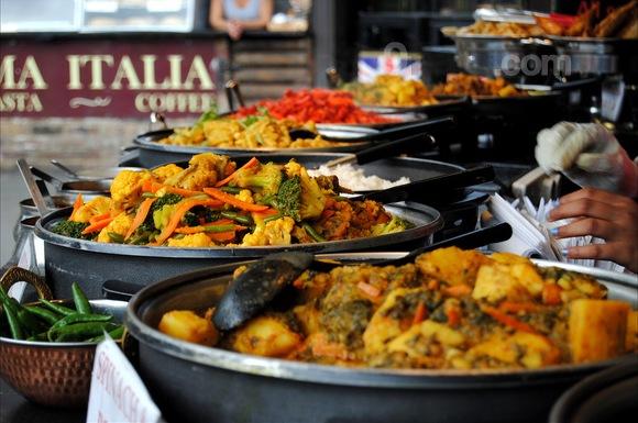 Camden London food stall