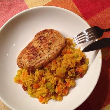 saffron chorizo rice