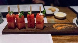 quality meats miami beach amuse bouche watermelon
