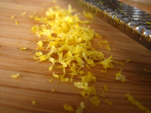 grated lemon zest