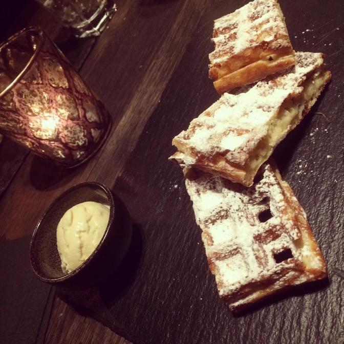 NXT door restaurant bruges dessert belgian waffles