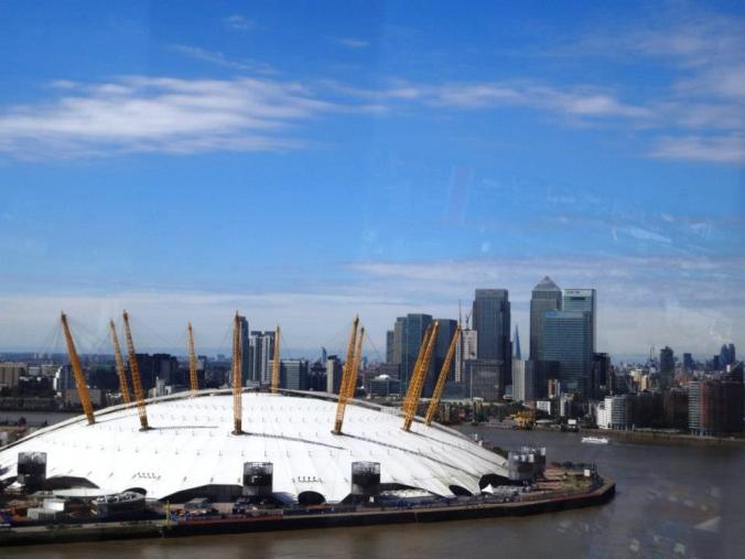 O2 view from Emirates Air Line London